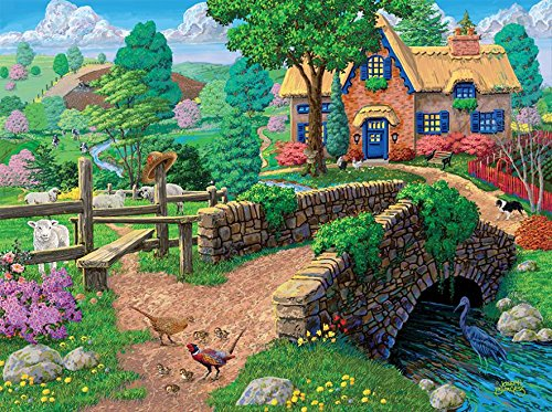 Country Cottage Fence - Ceaco Joseph Burgess - Fence Steps Cottage Puzzle (1000 Piece)