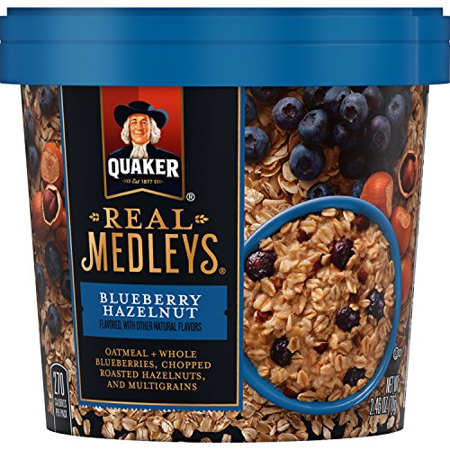 (Real Medleys Oatmeal, Blueberry Hazelnut, 2.46)