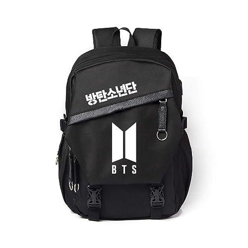 Wookit Unisex BTS Mochilas Lona Kpop Mochila Daypacks informal Bolsa para portátil Bolsa de viaje para A.R.M.Y.-BTS: Amazon.es: Zapatos y complementos