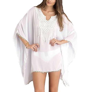 36e8e9525e Pop Fashion Womens, Summer, Beachwear, Swimsuit, Cover Up, Beach Cover,  Beach Wrap, Tops, Sheer Cover up at Amazon Women's Clothing store: