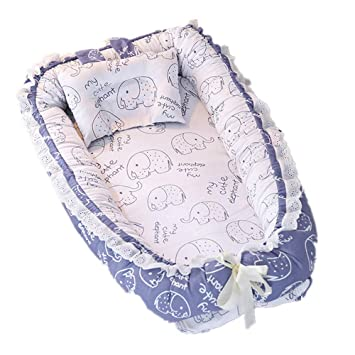 Amazon.com: abreeze con volantes cama de viaje de bebé cuna ...
