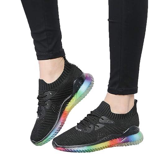 ba0071a60c5dc Women's Trend Rainbow Jelly Soles Sneakers Mesh Lightweight ...