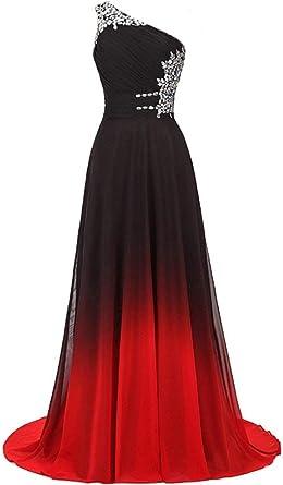 Women/'s One Shoulder Chiffon Long Bridesmaid Dress Formal Evening Prom Dresses