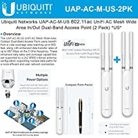 Ubiquiti Networks UniFi AP AC Mesh UAP-AC-M-US In/Out Dual-Band Access PointUS (2 Pack)