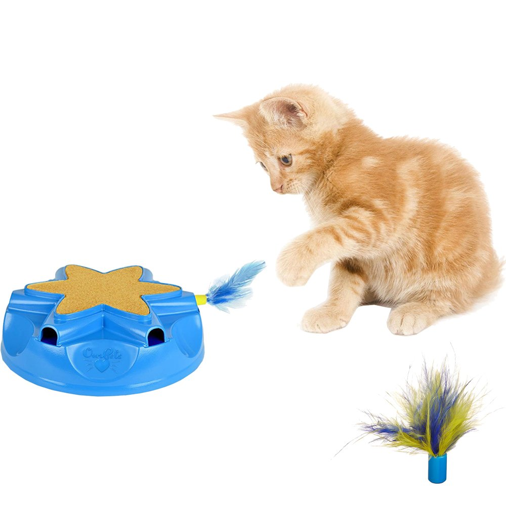 OurPets Catty Whack Interactive Sound and Feather Action Cat Toy with Replacement Feathers