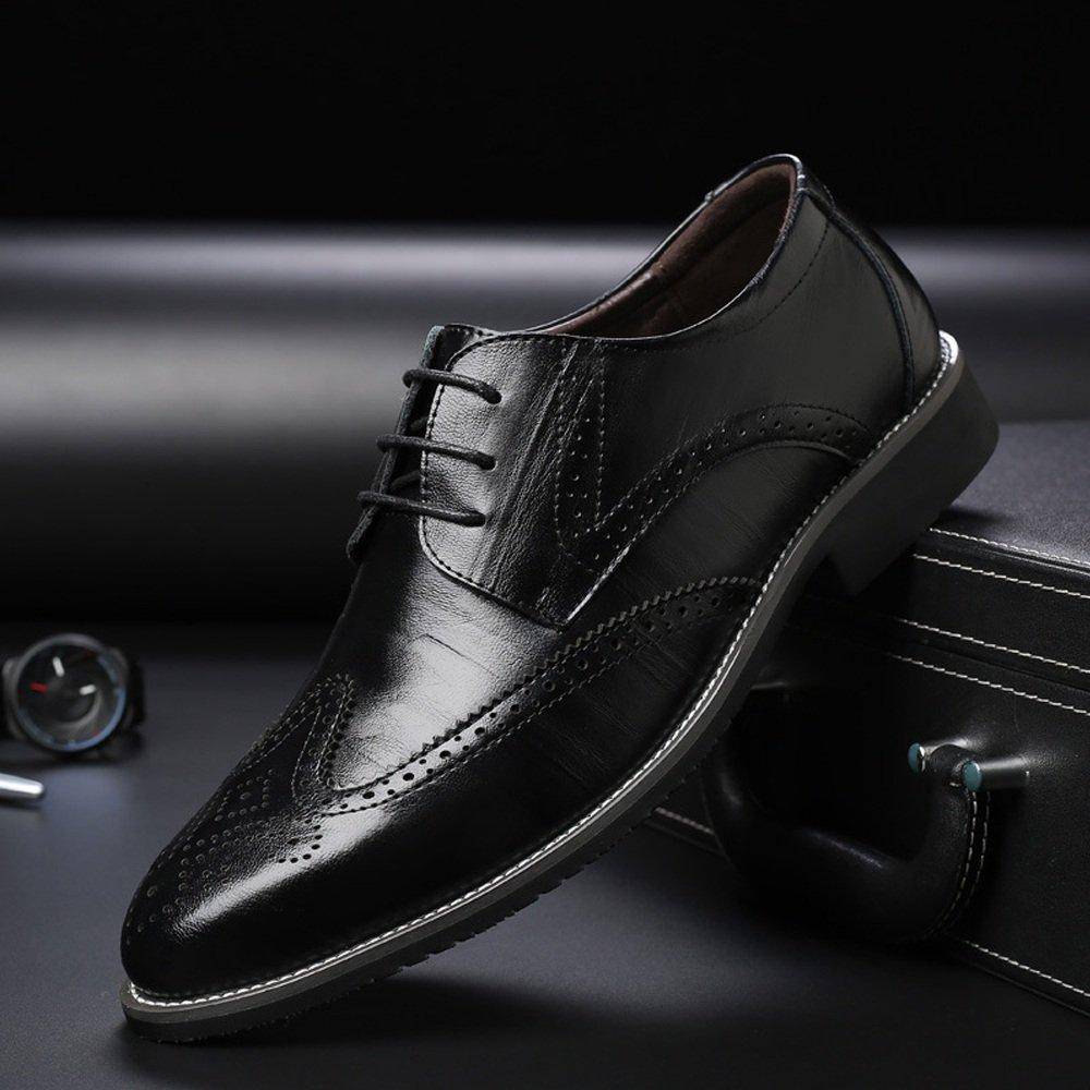 Lederschuhe Herren Lederschuhe aus Echtem Leder Brogue Schuhe up Wingtip Hohl Carving Lace up Schuhe Business Niedrig Top Ausgekleidet Oxfords Schwarz 1a8e71