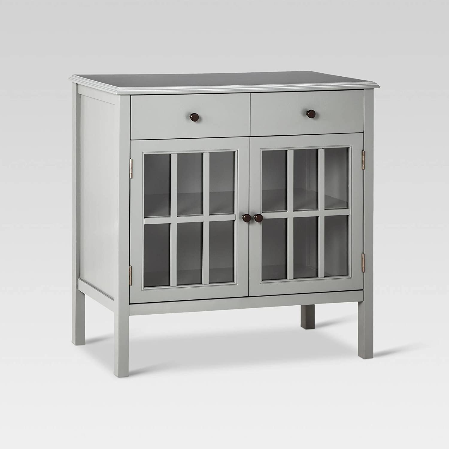 Amazon.com: Windham 2 Door Cabinet with Drawers - Gray: Kitchen
