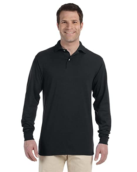 6fee0d9429e Image Unavailable. Image not available for. Color: Jerzees Spotshield 50/50  Long Sleeve Sport Shirt ...