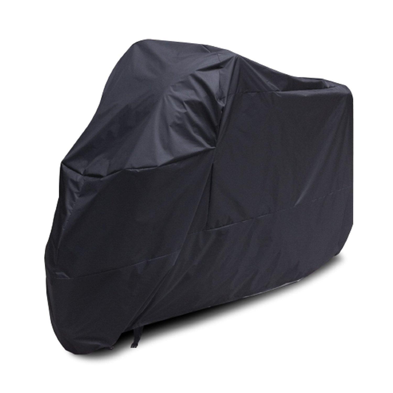 Telo motocicletta coprimoto impermeabile, antipolvere, anti UV, traspirante, per esterni, con sacca per il trasporto XL Nero Lance Home