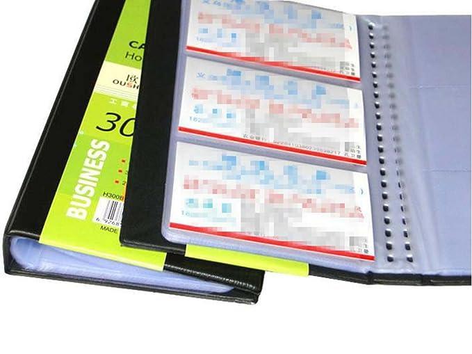DAYAN Business Card Holder Porte-Cartes de Visite Reli/é avec 120 Cartes