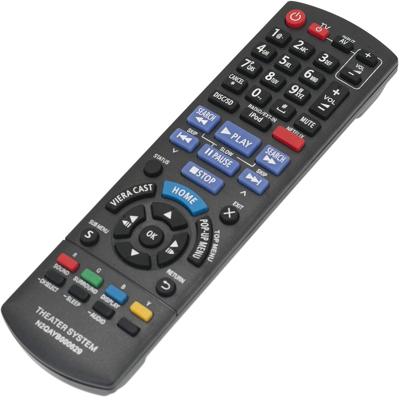 ECONTROLLY New Remote Control N2QAYB000629 for Panasonic Home Theater System SC-BTT270 SC-BTT770 SA-BTT270 SA-BTT273 SC-BTT273 SC-BTT268 SC-BT770 SA-BTT268