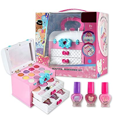 Kids Makeup Kit for Girl - 11Pc Princess Cosmetic Play Set Toy Washable, Non Toxic - Ideal Birthday for Little Girls Ages 3, 4, 5, 6 Year Old Children: Home & Kitchen