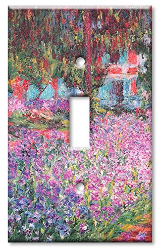 American Light Art Three (Art Plates - Monet: The Artist's Garden Switch Plate - Single Toggle)
