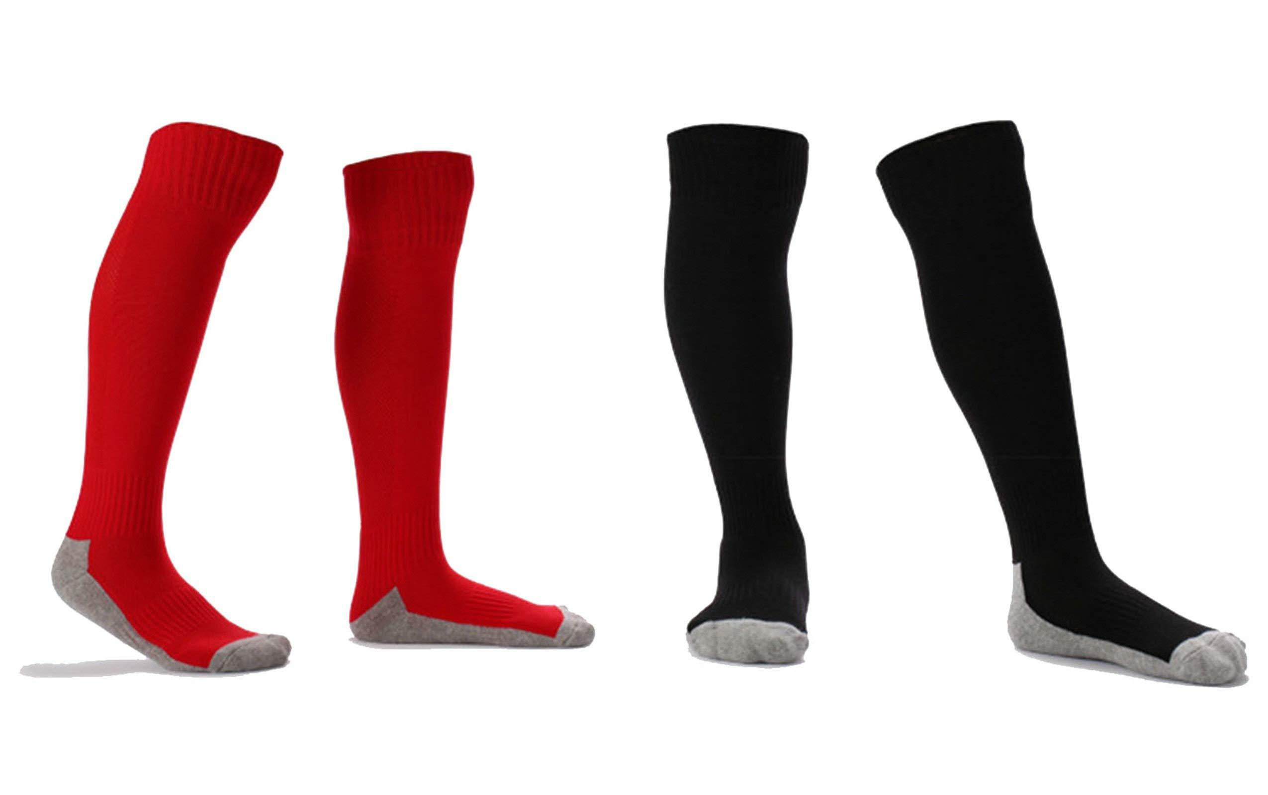 Soccer Socks Towel Bottom Long-Sleeve Socks Size S 33-38 Yards Black and White Blue Orange Green 6Pair