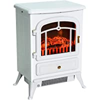 HomCom 16-in 1500W Electric Wood Stove Fireplace Heater Deals