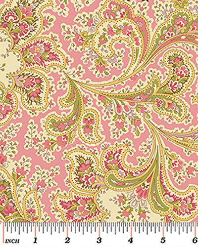 Amazon Benartex Malabar Rose 108 Wide Quilt Backing Fabric By