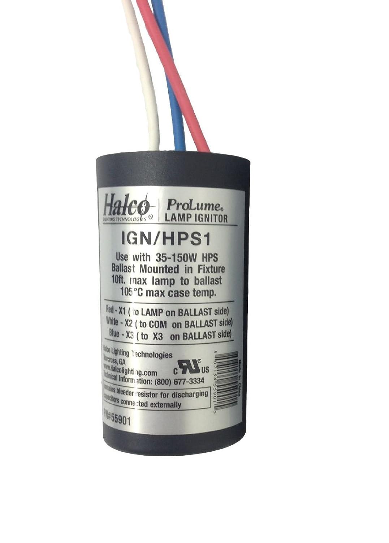 35 150 Watt High Pressure Sodium Ignitor Prolume By Halco 55901 100 Hps Ballast Wiring Diagram Intensity Discharge Bulbs