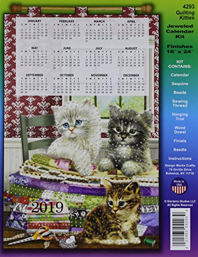 Design Works Crafts DW4293 Sequin Calendar 2019 Kitties Design Works Quilting by Design Works Crafts