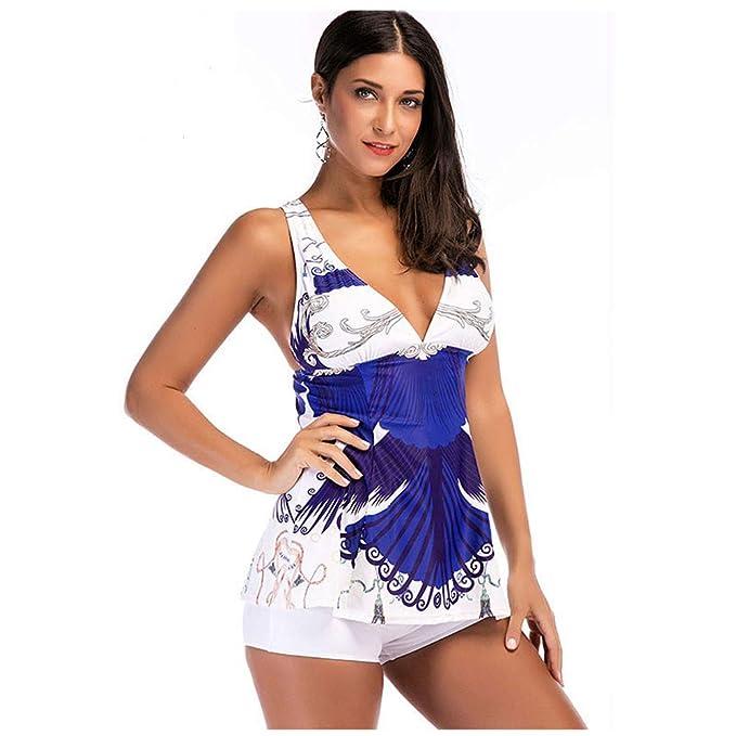 Amazon.com: Wociaosmd - Bikini sexy sin espalda para mujer ...