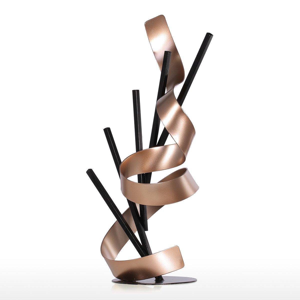 Tooarts L/ínea y Cinta Escultura Abstracta para Oficina Casa