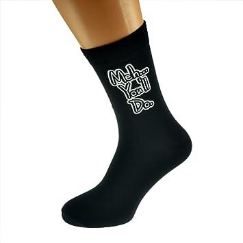 Te hacer divertido mensaje romántico San Valentín diseño negro calcetines grande hombre