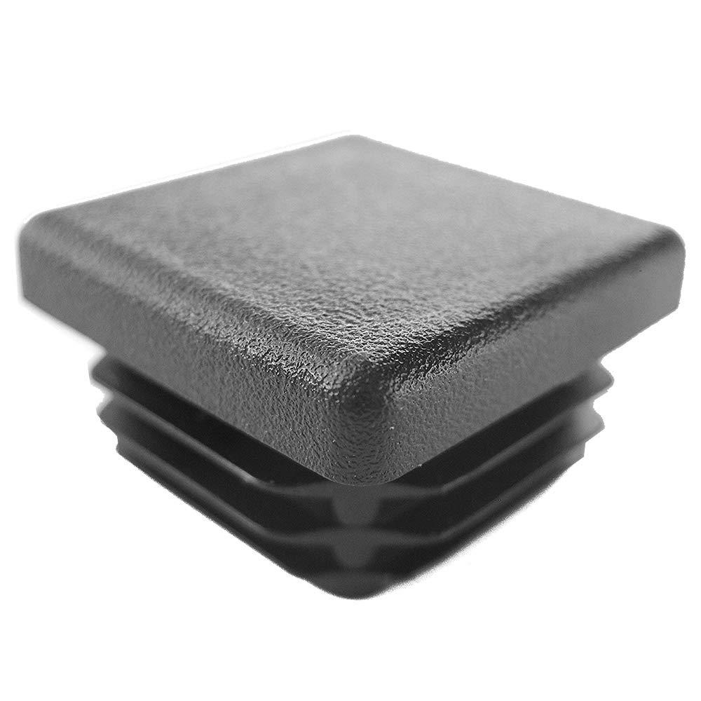 Prescott Plastics 1 1//2 Inch Square Plastic Plug Chair Glide 20 Tubing Post End Cap