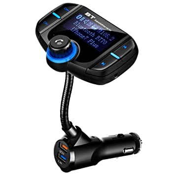 Bluetooth 4.2 FM Transmitter Car Kit Handsfree Radio Adapter Dual USB Charger US