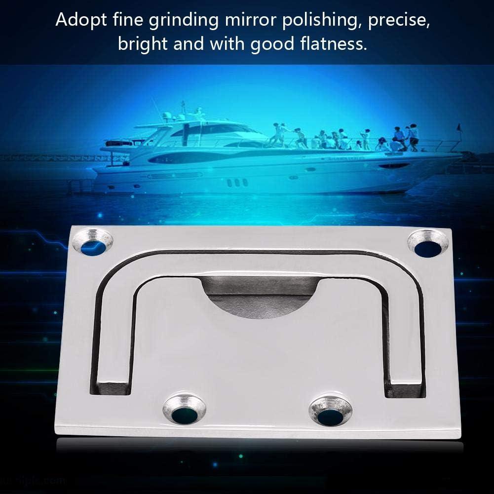 Poign/ée de trappe poign/ée de traction dascenseur darmoire pour le yacht marin. 1 PC de casier de trappe affleurant de bateau en acier inoxydable