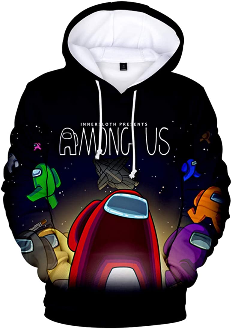 Men S Among Us Hoodie 3d Printed Game Pullover Casual Streetwear Sweatshirt Amazon Co Uk Clothing