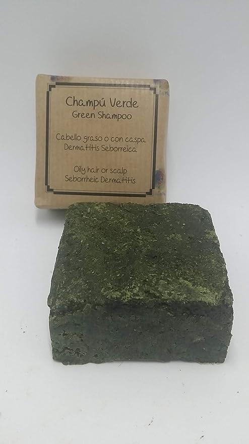 Champú sólido Verde - Cabello graso, dermatitis o con caspa - Apto para barba