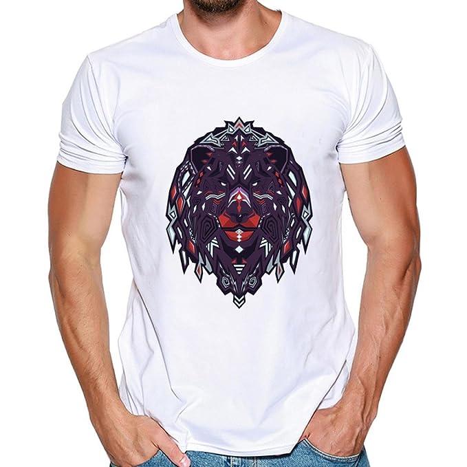 Resplend Hombres Que Imprimen Las Camisetas Camisa de Manga Corta Camiseta Blusa Tops: Amazon.es: Ropa y accesorios