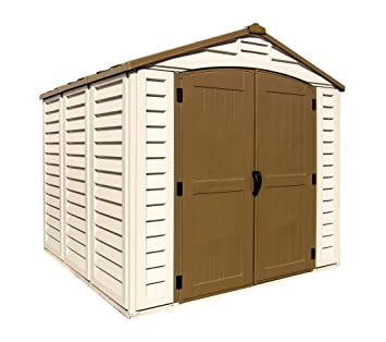 duramax 30114 store all vinyl shed with foundation 8 by 6 inch