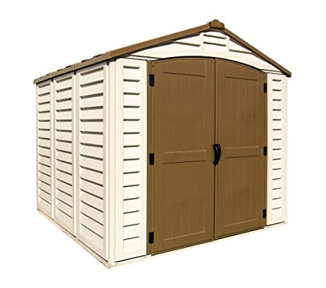 duramax 30114 store all vinyl shed with foundation 8 by 6 inch - Garden Sheds Vinyl