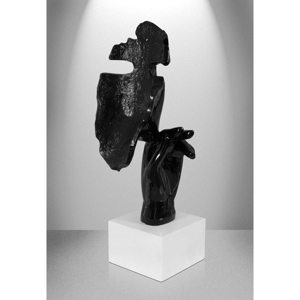Arte Dal Mondo d4517PR Visage f/éminin r/ésine Moderne Abstrait Sculpture Statue /à Base de marbre