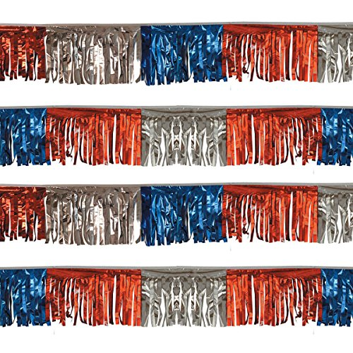 Starburst String (Red/Silver/Blue Starburst String Pennants (60 ft.))
