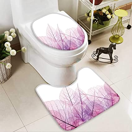 Wondrous Amazon Com Huawuhome 2 Piece Bathroom Contour Rugs Pink And Interior Design Ideas Gentotryabchikinfo