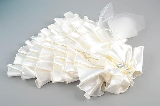 Decoracion para botella de cava vestido de novia de raso y tul artesanal: Amazon.es: Hogar