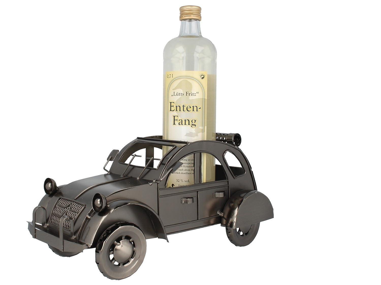 handgefertigt Flaschenhalter Cowboy in eisenoptik