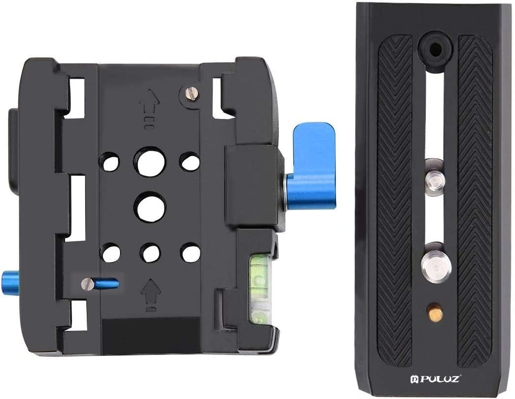 Color : Black Black Camera Accessories Quick Release Clamp Adapter Quick Release Plate for DSLR /& SLR Cameras