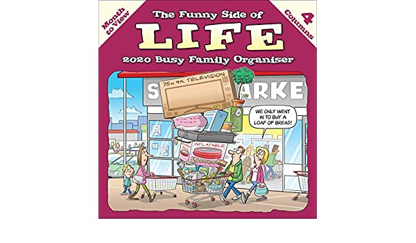 Funny Side of Life Square Wiro Wall Planner Calendar 2020