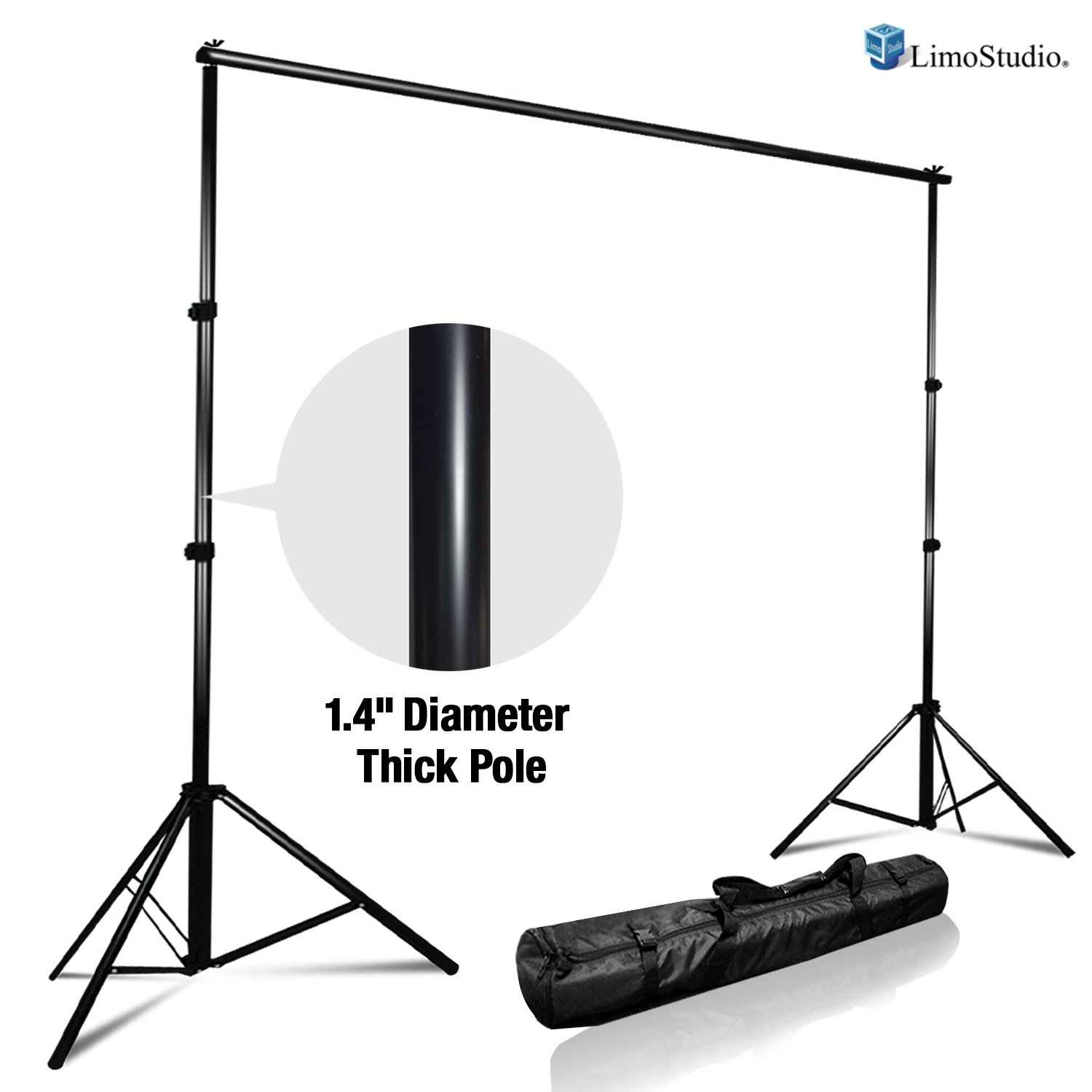 LimoStudio Photo Video Studio Adjustable Muslin Background Backdrop Support System Stand & Cross Bar, AGG1111 by LimoStudio