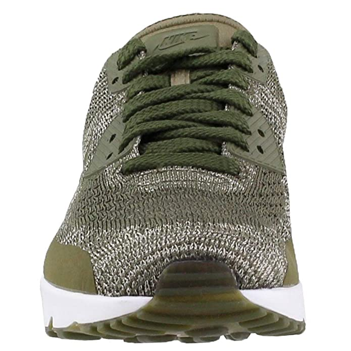 NIKE AIR Max 90 Ultra 2.0 Flyknit Olive Green White Mens