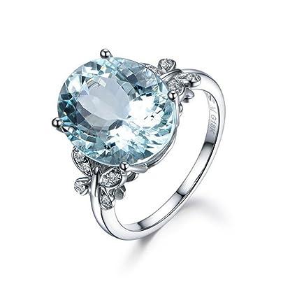Freessom Bague Femme Pierre Naturelle Bleu Papillon Diamante Elegant Fine Delicat Originale Faitaisie Anneau Bijoux Mariage Fiancaille Saint Valentin