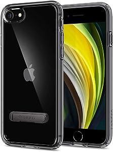 Spigen Funda Ultra Hybrid S Compatible con iPhone SE 2020, Compatible con iPhone 8 y Compatible con iPhone 7 - Negro