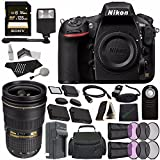 Nikon D810 DSLR Camera (Body Only) + Nikon AF-S NIKKOR 24-70mm f/2.8G ED Lens + Rechargable Li-Ion Battery + Charger + Sony 128GB SDXC Card + HDMI Cable + Remote + Memory Card Wallet + Flash Bundle For Sale