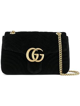965f8ae02d9f Gucci Femme 443496K4D2T1000 Noir Velours Sac Porté Épaule  Amazon.fr ...