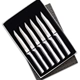 Rada Cutlery Serrated Steak Knife Set – Stainless Steel Knives With Aluminum Handles, Set of 6