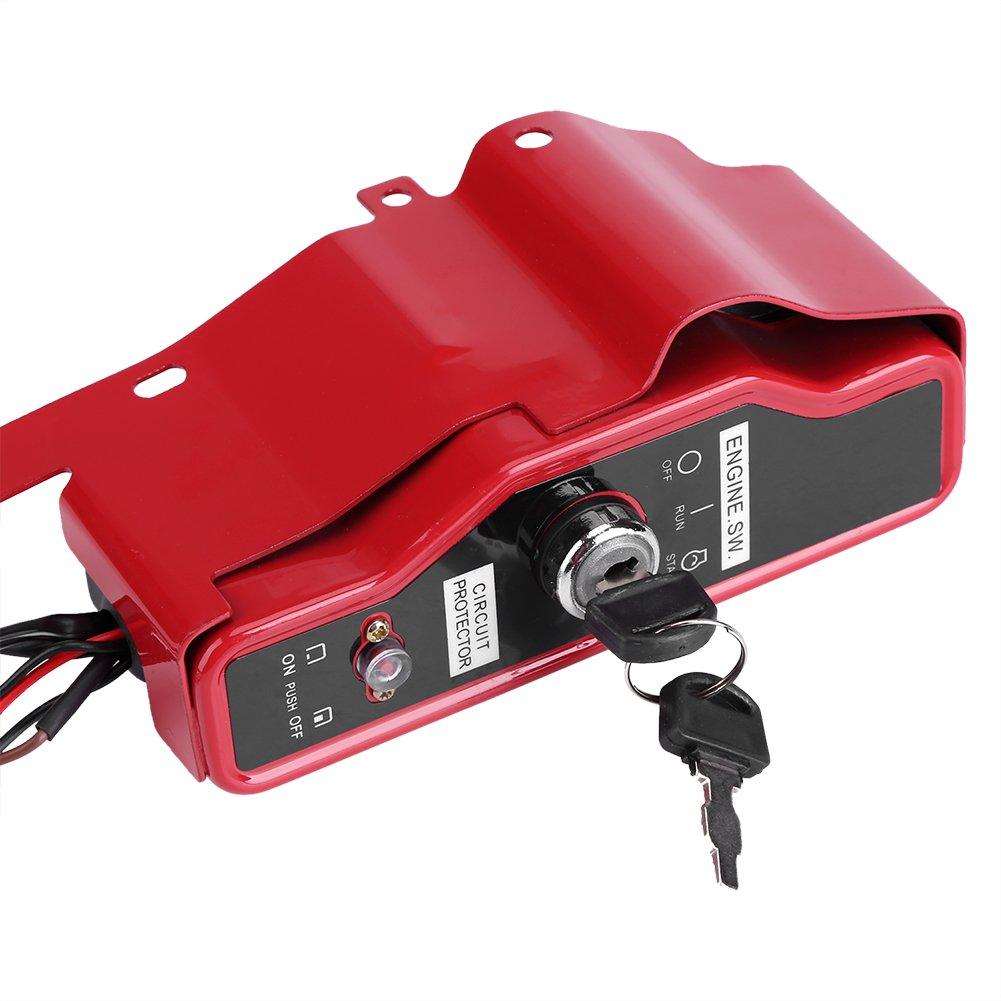 Fdit Bo/îte de t/él/écommande commutateur dallumage Principal /électrique avec 2 cl/és pour Le Moteur /à Essence de Honda