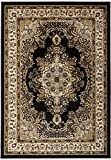 Antep Rugs Siesta Collection Traditional Oriental Polypropylene Indoor Area Rug (Black/Beige 8' X 10')
