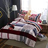 DHWM-Cotton Mill thick wool blankets linens and bedding 4 piece set, double the cover kit ,1.5m
